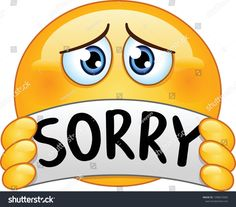 Emoticon with sorry sign Royalty Free Vector Image emoji Animated Smiley Faces, Funny Emoji Faces, Animated Emoticons, Emoticon Faces, Funny Emoticons, Smileys, Smiley Emoji, Kiss Emoji, Love Smiley