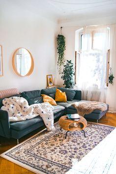 Living room design - HOME Wohnzimmer - Decor Boho Living Room, Home And Living, Modern Living, Cute Living Room, Living Room Ideas Old House, Bohemian Living, Minimalist Living, House Ideas, Living Room Inspiration