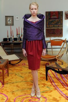 A look from the Joyce by Romeo Gigli collection for fall 2012.