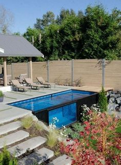 78 Cozy Swimming Pool Garden Design Ideas On a Budget. Since you may see, the now-exposed metallic sides of the pool provedn't in reassuring condition. Nonetheless, the pool is really cool alone. Natural Swimming Pools, Above Ground Swimming Pools, In Ground Pools, Natural Pools, Shipping Container Swimming Pool, Container Pool, Oberirdische Pools, Lap Pools, Indoor Pools