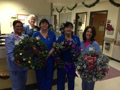 Resurgens' Lawrenceville office had a wreath decorating contest.  After voting on these top three, the wreaths were donated to the Children's Emergency Room at Gwinnett Medical Center, where GMC nurses gave to deserving families during the holiday season.