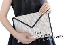 Blog DIY pochette enveloppe Artlex Sewing Patterns Free, Sewing Tutorials, Sewing Projects, Diy Clothing, Sewing Clothes, Diy Pochette, Diy Sac, Diy Envelope, Diy And Crafts Sewing