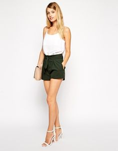 ASOS Shorts with Belted Waist Detail