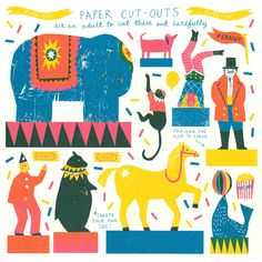 Little Paper Circus Toy | The Printed Peanut