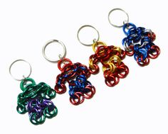 Superhero Chainmaille Maille Man Keychain Aluminum by LusterLinks