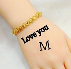 Wallpaper Love M Name Photo