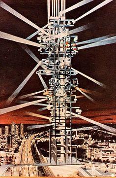 Tour Lumière Cybernétique, Nicolas Schöffer (1963) #experimentsinmotion #motion