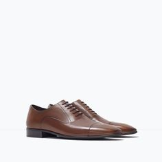 ZARA - SHOES & BAGS - FORMAL LEATHER OXFORD SHOE