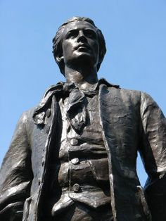 """Nathan Hale. Hanged by the British at age 21. """"I only regret that I have but one life to loose for my country."""" September 22, 1776"""