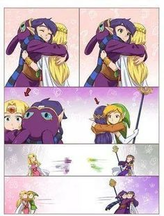 "The Legend of Zelda: A Link Between Worlds / Link, Princess Zelda, Ravio, and Princess Hilda / ""Hugs?"" - Work by Hunter x Hunter ♥ The Legend of Zelda The Legend Of Zelda, Legend Of Zelda Memes, Legend Of Zelda Breath, Manga Comics, Creepypasta Anime, Princesa Zelda, Link Zelda, Twilight Princess, Breath Of The Wild"