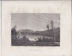 Lake George, N.y., American. T. Cole (Published: Samuel Walker 1835 Boston)