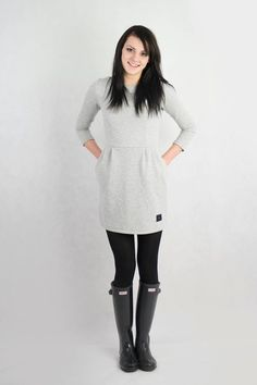 Sukienka dresowa z kieszeniami w evlin na DaWanda.com