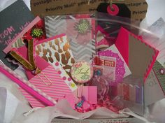 Shades Of Pink Surprise Goody Box Planner Kit Filled with Stationery, Planner & Snail Mail Supplies by ASprinkleOfLovely on Etsy