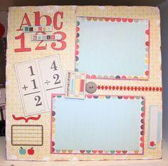 Back to School Scrapbook layout. #Scrapbook, #Layout, #School