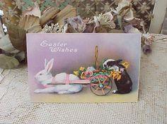 Darling Edwardian Era Easter Postcard-Bunnies by TheJewelMystique