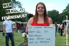 """""""Ich brauche #Feminismus, damit alle als Individuum leben können - und nicht als Stereotype!"""" (Rike)"""