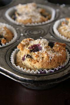 Gluten Free - Vegan Blueberry Muffins from @Wendy | Around My Family Table