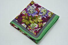 Kenzo Cotton Handkerchief Multicolor Floral Pattern