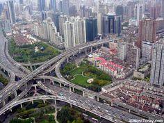 Puxi Viaduct, Shangahi, China #amazingarchitectures #travel