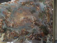 Wat mij betreft het mooiste plafond in Villa Borghese. Ik vraag me nog steeds af hoe ze dit gemaakt hebben... ~ dag 4