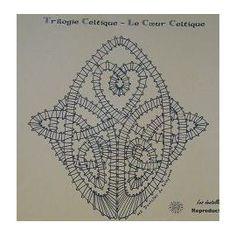 Lot 2 Modèle/Carton Dentelle Aux Fuseaux Celtique Triketra Et Coeur Celtique