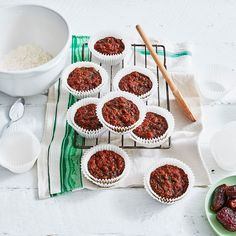 A healthier WW recipe for Sarah's date muffins ready in just Get the SmartPoints value plus browse other delicious recipes today! Ww Recipes, Delicious Recipes, Yummy Food, Healthy Recipes, Brunch Recipes, Cooking Recipes, Date Muffins, Fresh Dates, Blueberry Compote