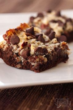 German Chocolate Cookie Bars have a chewy chocolate cookie layer topped with gooey homemade german chocolate coconut frosting. So yummy!