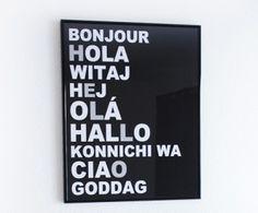 "Hello Languages- entrance hall? 16"" X 20""- 41 X 51cm $25"