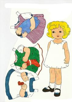 Merry Christmas-Vintage Paper Doll Free Printable - Making the World Cuter  (These dolls were drawn by Lois Brant and published in an LDS Church magazine, The Children's Friend as 'Sally Ann's Styles' in the 1930's)
