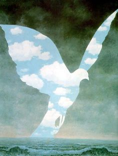''Big family'' by Rene Magritte (1898 – 1967)-a Belgian surrealist artist. One of my favorite paintings passed down from my dad.