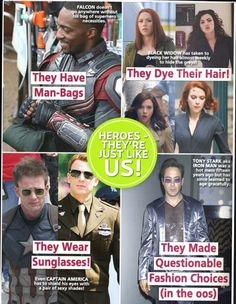"mediavengers: "" US Weekly - Unknown date It's all about style choices. Everything's fine when you're a dude, but if you're Black Widow then obviously you must be going grey because why else would anyone dye their hair? … This is a direct parody of. Iron Man Stark, Medium Blog, Illustrations Posters, Design Illustrations, Bucky Barnes, Marvel Characters, Tony Stark, Marvel Cinematic Universe, Marvel Avengers"