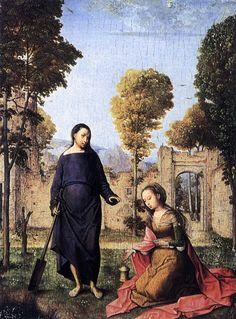 Juan de Flandes. Christ Appearing to Mary Magdalen. c.1500. Palacio Real, Madrid.