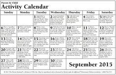 september - elementary school http://www.onlinefreespanish.com/blog/calendario-de-consejos-para-padres-parent-pointers-september-semtiembre-2015/