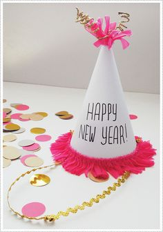 Activity & Craft: New Year's Eve Hat Making Party  {via mer mag}