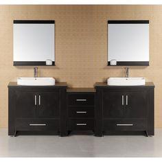 Have to have it. Design Element DEC083-E Washington 88-in. Double Bathroom Vanity Set - $1799 @hayneedle