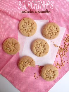 Chestnut and vanilla cookies