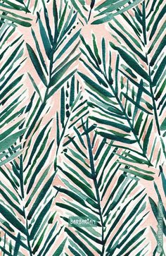 Sunset Palms Blush Tropical Print Patterns Designs - This Blush Tropical Print Was Inspired By The View Every Night From My Balcony I Hope I Never Take My Sunset Palms For Granted Palms Tropicalprint Illustration Agency, Pattern Illustration, Pattern Art, Print Patterns, Pattern Design, Motif Design, Leaf Patterns, Wall Design, Nature Pattern