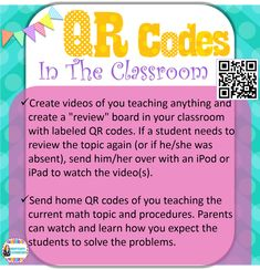 90 best technology qr codes images on pinterest classroom ideas qr codes in the classroom 2 ideas about how to implement qr codes to help fandeluxe Image collections