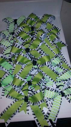 Really cute cheer bows I made today!