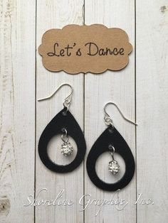 Items similar to Teardrop shape leather earrings with circle cutout, lightweight jewelry, disco ball style charm, earrings for prom, girls night out gift on Etsy Diy Leather Earrings, Gold Bar Earrings, Diy Earrings, Leather Jewelry, Leather Craft, Earrings Handmade, Handmade Bracelets, Handmade Jewellery, Flower Earrings