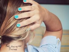 If I were to get a tattoo this one would be in the running, just in white ink. Pretty Tattoos, Love Tattoos, Beautiful Tattoos, Tatoos, Neck Tattoos, Girly Tattoos, Nape Tattoo, Tasteful Tattoos, Amazing Tattoos