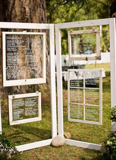 writing on clear glass panes    www.sarahelizabethevents.com