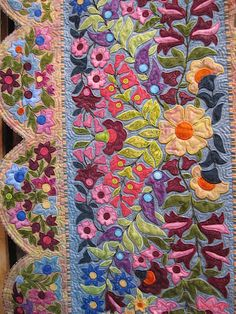 Country Threads: Song of the Earth (detail) by Liz Jones