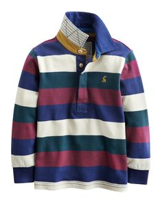 """#Joules """"Woodrow"""" - € 34,95 - Wikimo Kindermode, Kinder Rugby Shirt, multi gestreift by Tom Joule 