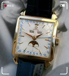 Vintage Watches Collection : Omega Triple-Date Moonphase Old Watches, Swiss Army Watches, Fine Watches, Vintage Watches, Analog Watches, Antique Watches, Rolex, Moonphase Watch, Gentleman Watch