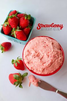 Strawberry Buttercream Frosting Recipe.  Made with fresh strawberries!!     My Name Is Snickerdoodle