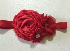Flor roja bebé venda venda del bebé la muchacha de flor