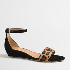 Factory calf hair demi-wedge sandals : Shoes | J.Crew Factory