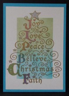 Joy Tree stamp by Stampendous CRR275. Julie Makela.