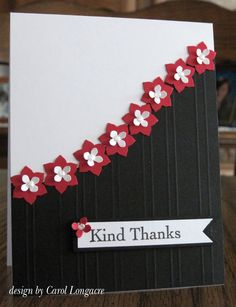 Kind Thanks Card Cute Cards, Diy Cards, Your Cards, Thanks Card, Embossed Cards, Stampin Up Cards, Cricut Cards, Scrapbook Cards, Scrapbooking Ideas